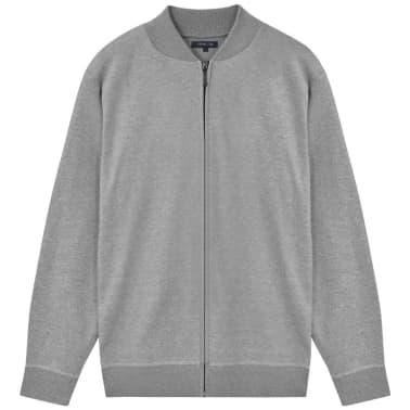 vidaXL Cardigan menn grå XL[1/5]