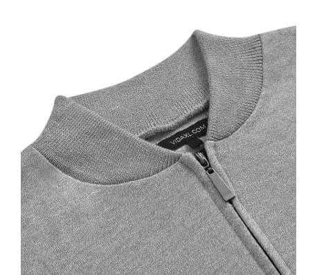 vidaXL Cardigan menn grå XL[2/5]