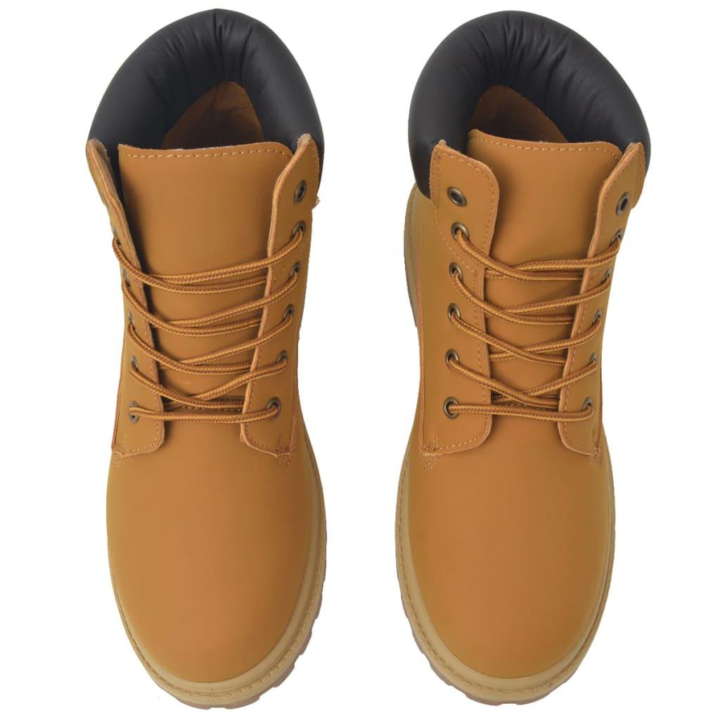 vidaXL Pánské kotníkové boty velbloudí barva vel. 41