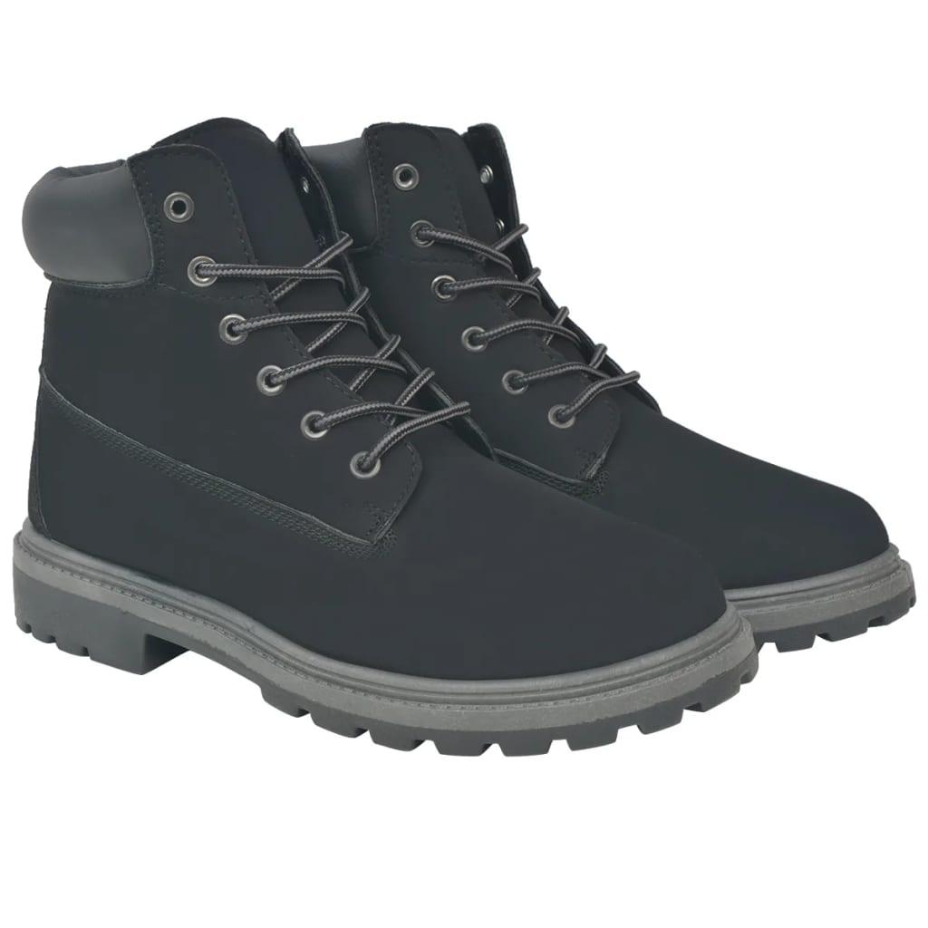 vidaXL Pánské kotníkové boty černé vel. 45
