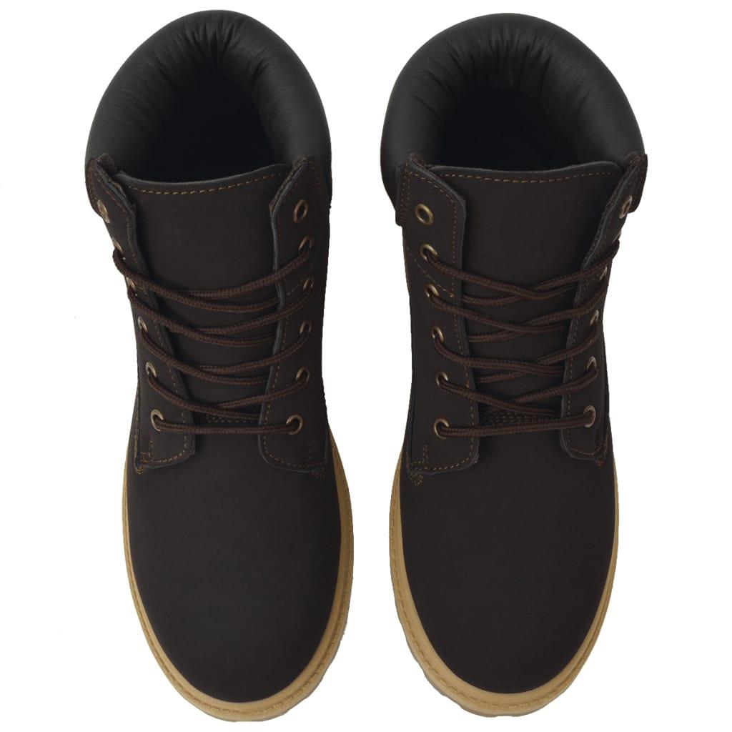 vidaXL Pánské kotníkové boty hnědé vel. 41