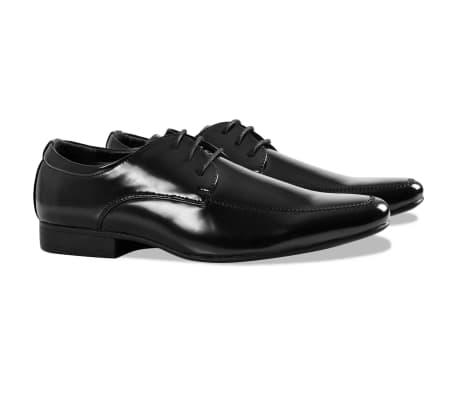 Vidaxl Smoking Chaussures Habillées Cravate Noire Taille 41 Noir JaRomM84TV