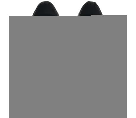 vidaXL Pantofi bărbătești cu șiret, piele PU, negru, mărimea 41[3/5]
