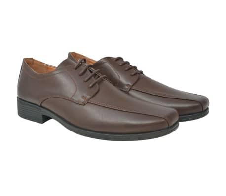vidaXL Pánské formální šněrovací boty hnědé vel. 41 PU kůže[1/5]