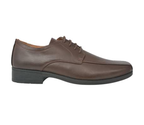 vidaXL Pánské formální šněrovací boty hnědé vel. 41 PU kůže[2/5]