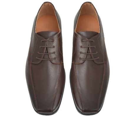 vidaXL Pánské formální šněrovací boty hnědé vel. 41 PU kůže[3/5]
