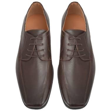 vidaXL Chaussures à lacets pour hommes Marron Pointure 43 Cuir PU[3/5]