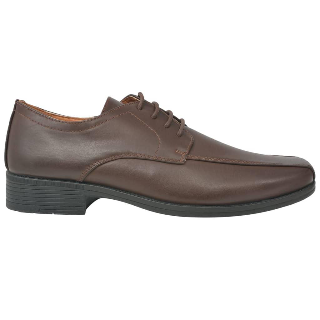 vidaXL Pánské formální šněrovací boty hnědé vel. 44 PU kůže
