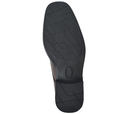 vidaXL Pánské formální šněrovací boty hnědé vel. 44 PU kůže[4/5]