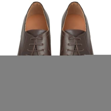 vidaXL Pánské formální šněrovací boty hnědé vel. 44 PU kůže[3/5]