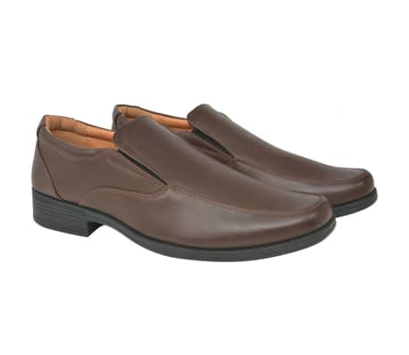 vidaXL Men's Loafers Brown Size 7.5 PU Leather[1/6]