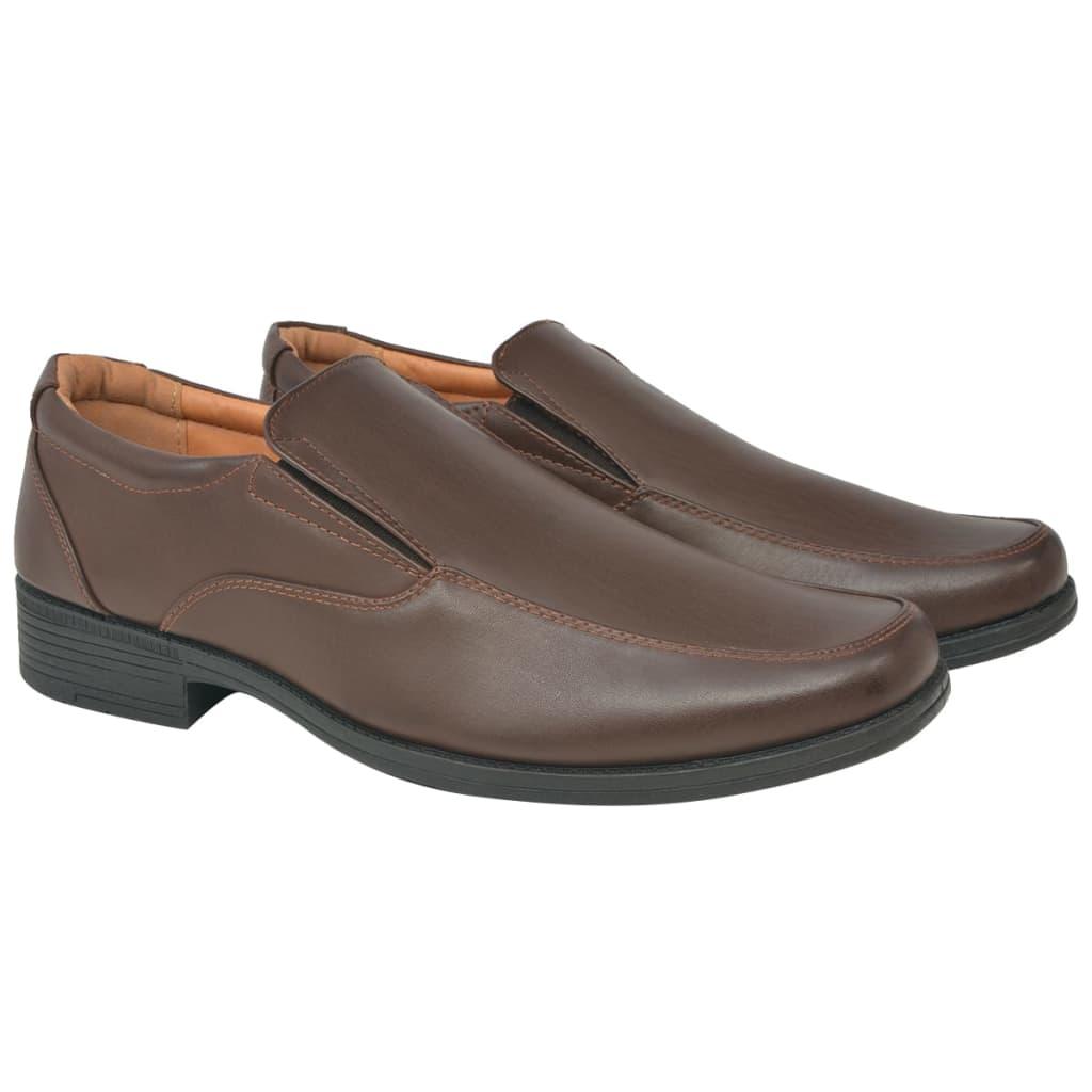 vidaXL Heren loafers bruin maat 43 PU leer