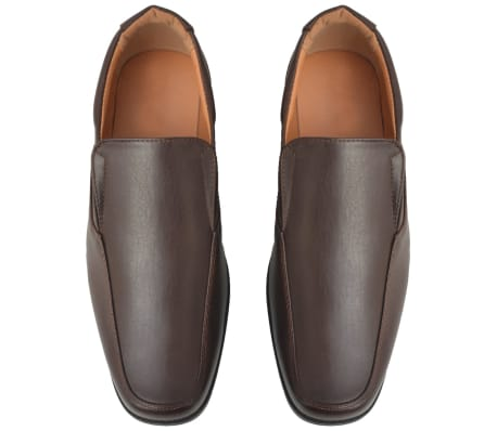 vidaXL Men's Loafers Brown Size 9.5 PU Leather[3/6]