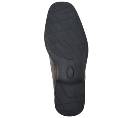 vidaXL Men's Loafers Brown Size 9.5 PU Leather[4/6]