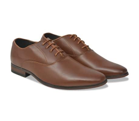 vidaXL Pánske formálne šnurovacie topánky, hnedé, veľkosť 44, PU koža[1/5]
