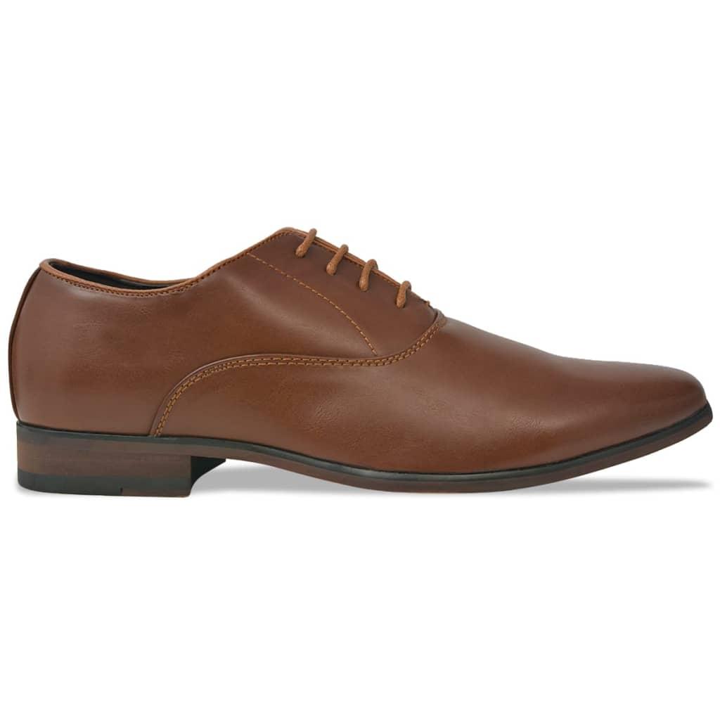 vidaXL Pánské formální šněrovací boty hnědé vel. 45 PU kůže