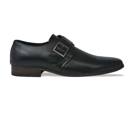 vidaXL Pantofi cu cataramă, bărbați, mărime 40, piele PU, negru[2/5]