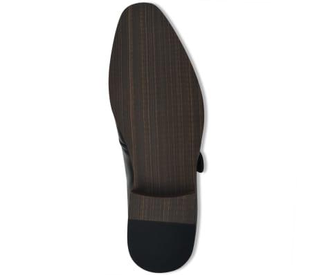 vidaXL Pantofi cu cataramă, bărbați, mărime 40, piele PU, negru[4/5]