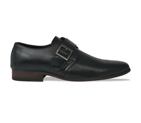 vidaXL Pánske topánky s prackou, čierne, veľkosť 42, PU koža[2/5]
