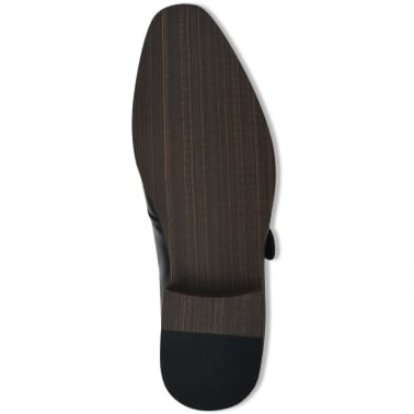 vidaXL Pánske topánky s prackou, čierne, veľkosť 42, PU koža[4/5]