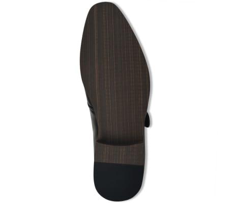 vidaXL Pantofi cu cataramă, bărbați, mărime 45, piele PU, negru[4/5]