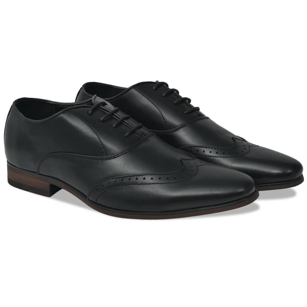 999131783 Business-Schuhe Herren Brogue-Schuhe Schwarz Größe 43 PU-Leder