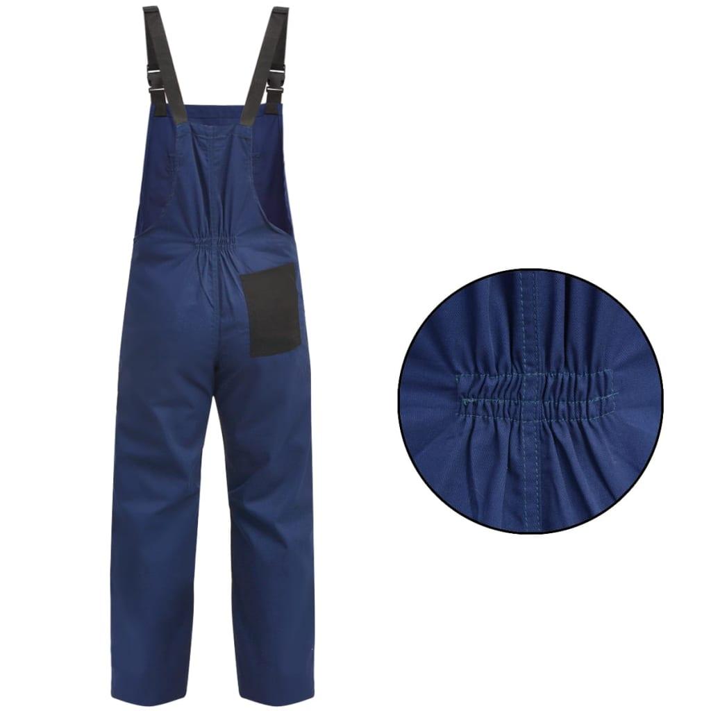 vidaXL Pánské montérky s laclem XXL modré