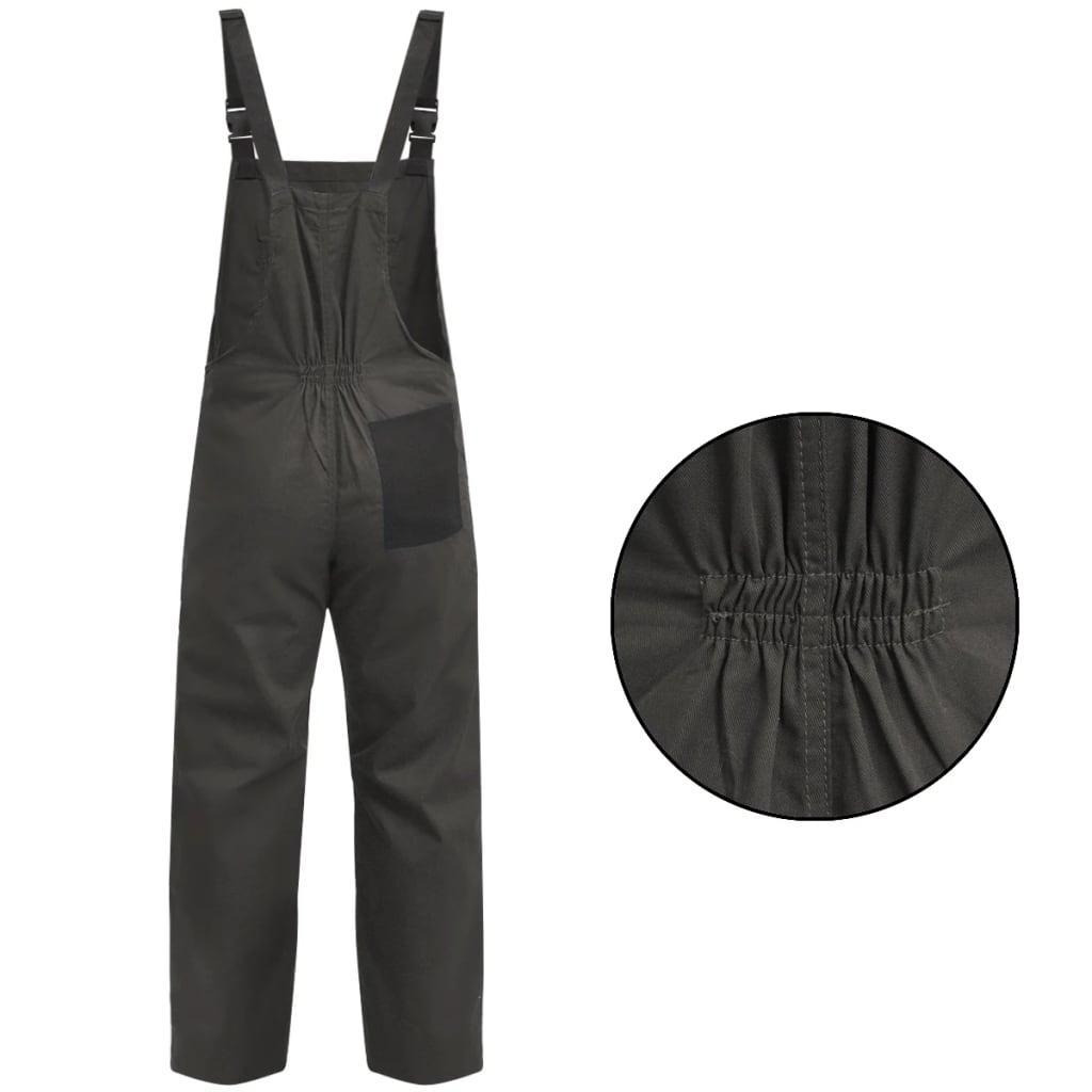 vidaXL Pánské montérky s laclem XL šedé