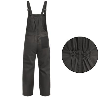 vidaXL Salopetă cu pieptar pentru bărbați mărimea XL, gri[2/5]