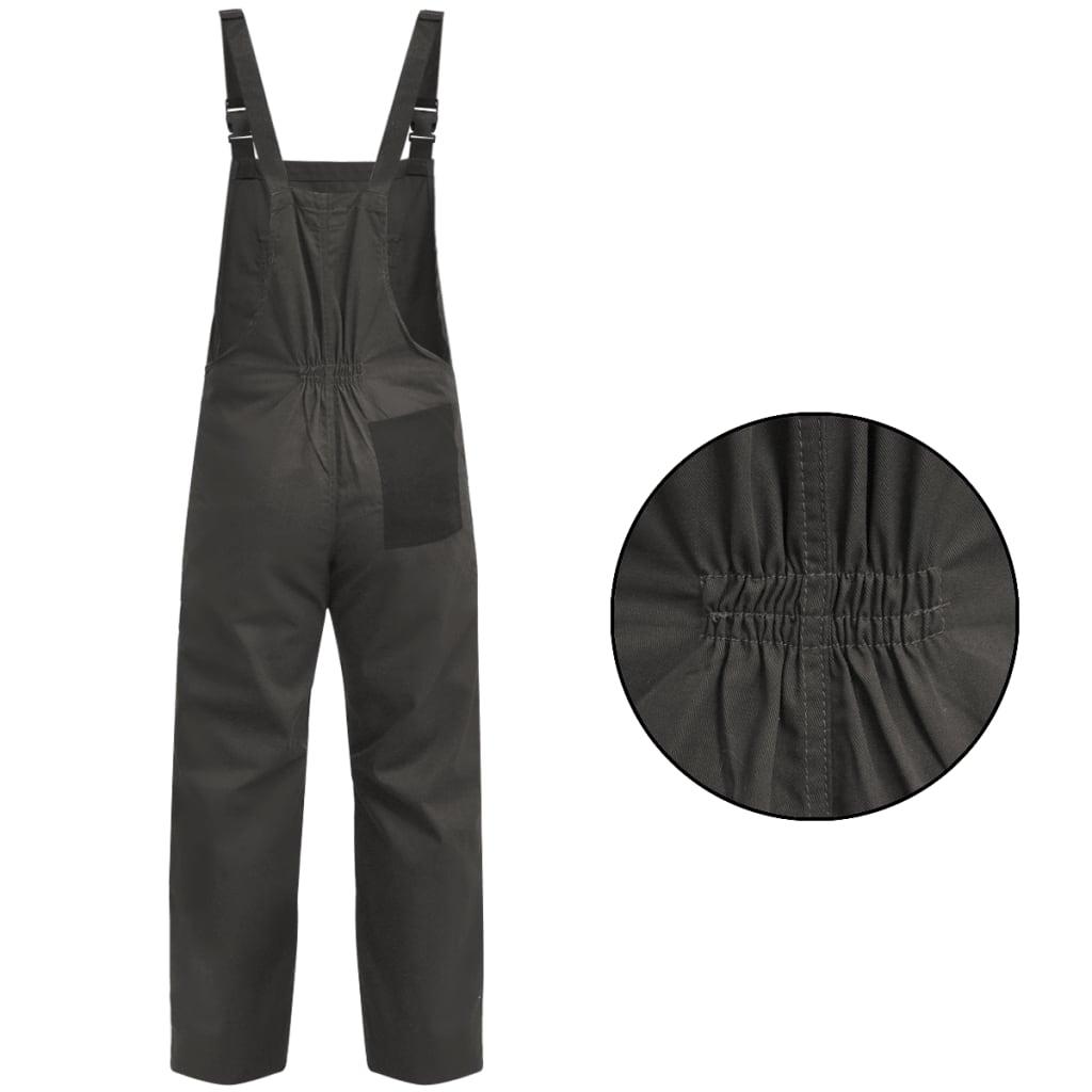 vidaXL Pánské montérky s laclem XXL šedé
