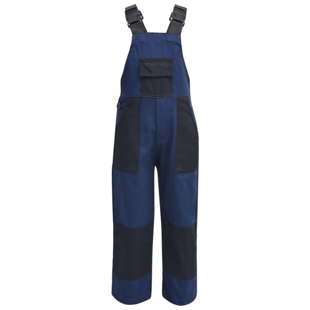 vidaXL Dětské montérky s laclem 98/104 modré