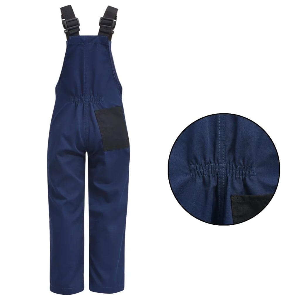 vidaXL Dětské montérky s laclem 134/140 modré
