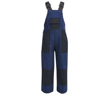 vidaXL Salopette à bavette pour enfants Taille 158 / 164 Bleu[1/5]