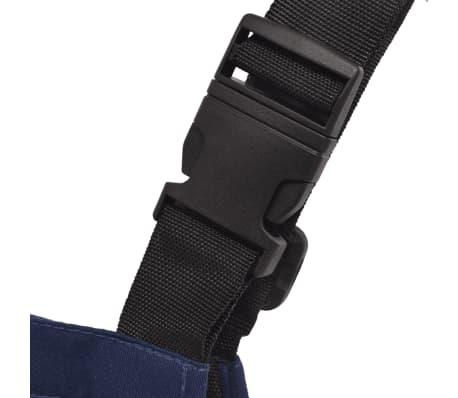 vidaXL Salopette à bavette pour enfants Taille 158 / 164 Bleu[3/5]