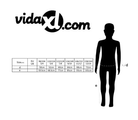 vidaXL Salopetă cu pieptar pentru copii, mărime 158/164, gri[5/5]
