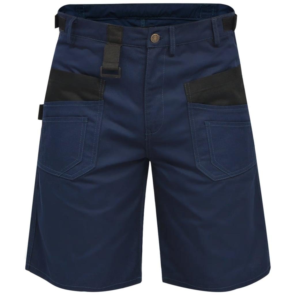 vidaXL Pánské pracovní šortky, velikost M, modré