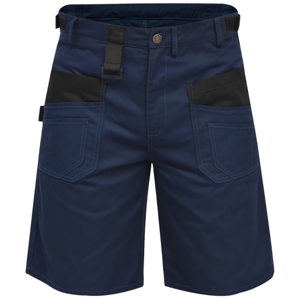 vidaXL Pánské pracovní šortky, velikost XXL, modré