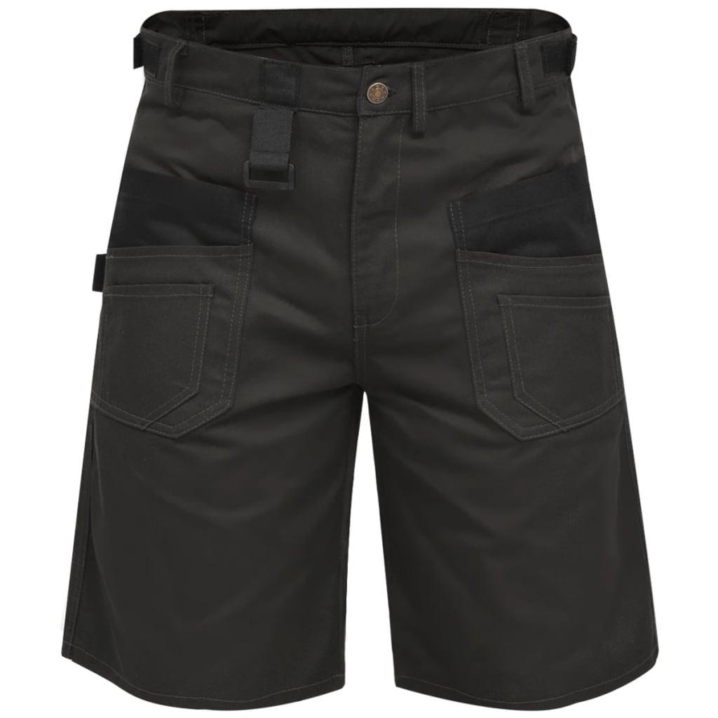 vidaXL Pánské pracovní šortky, velikost M, šedé