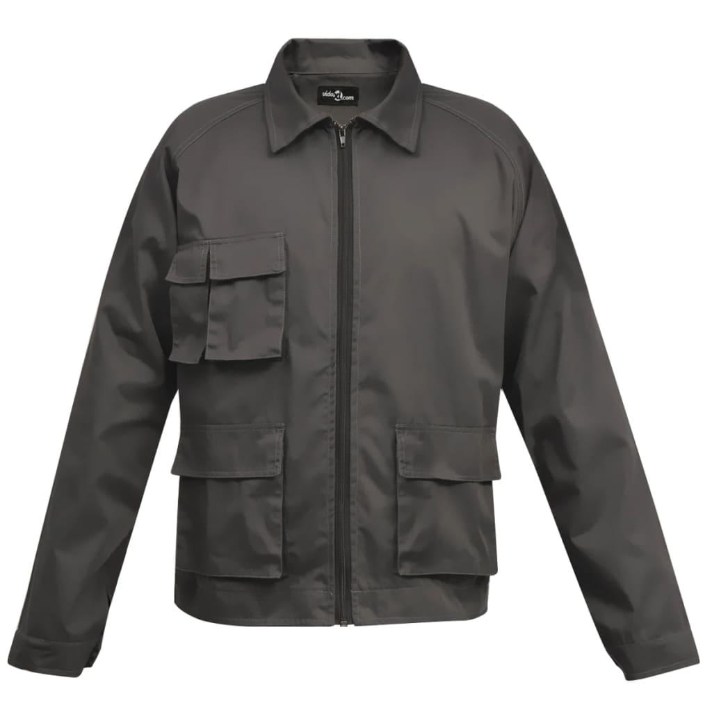 vidaXL Pánská pracovní bunda XL šedá