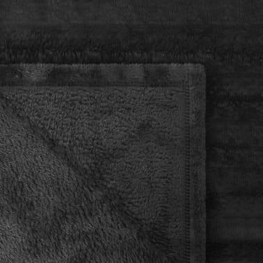 acheter vidaxl couverture fausse fourrure noir 150x200 cm pas cher. Black Bedroom Furniture Sets. Home Design Ideas