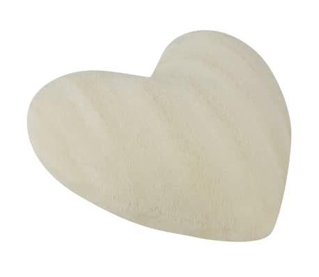 vidaxl kissen in herzform 2 stk kunstfell cremewei g nstig kaufen. Black Bedroom Furniture Sets. Home Design Ideas