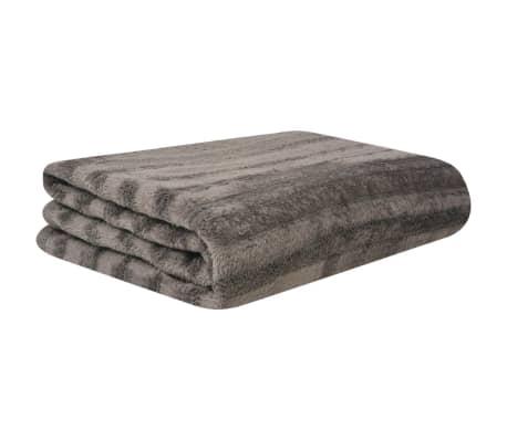 acheter vidaxl couverture et housses de coussin 3 pi ces fausse fourrure gris pas cher. Black Bedroom Furniture Sets. Home Design Ideas