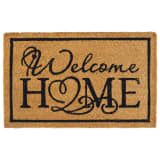 vidaXL Tapete de porta em fibra de coco welcome home 15 mm 40x60 cm