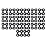 vidaXL Kilimėlio jungtys, 20 vnt., guma, juodos