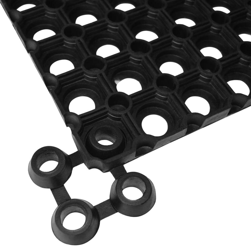 vidaXL Spojovače rohoží 20 ks gumové černé