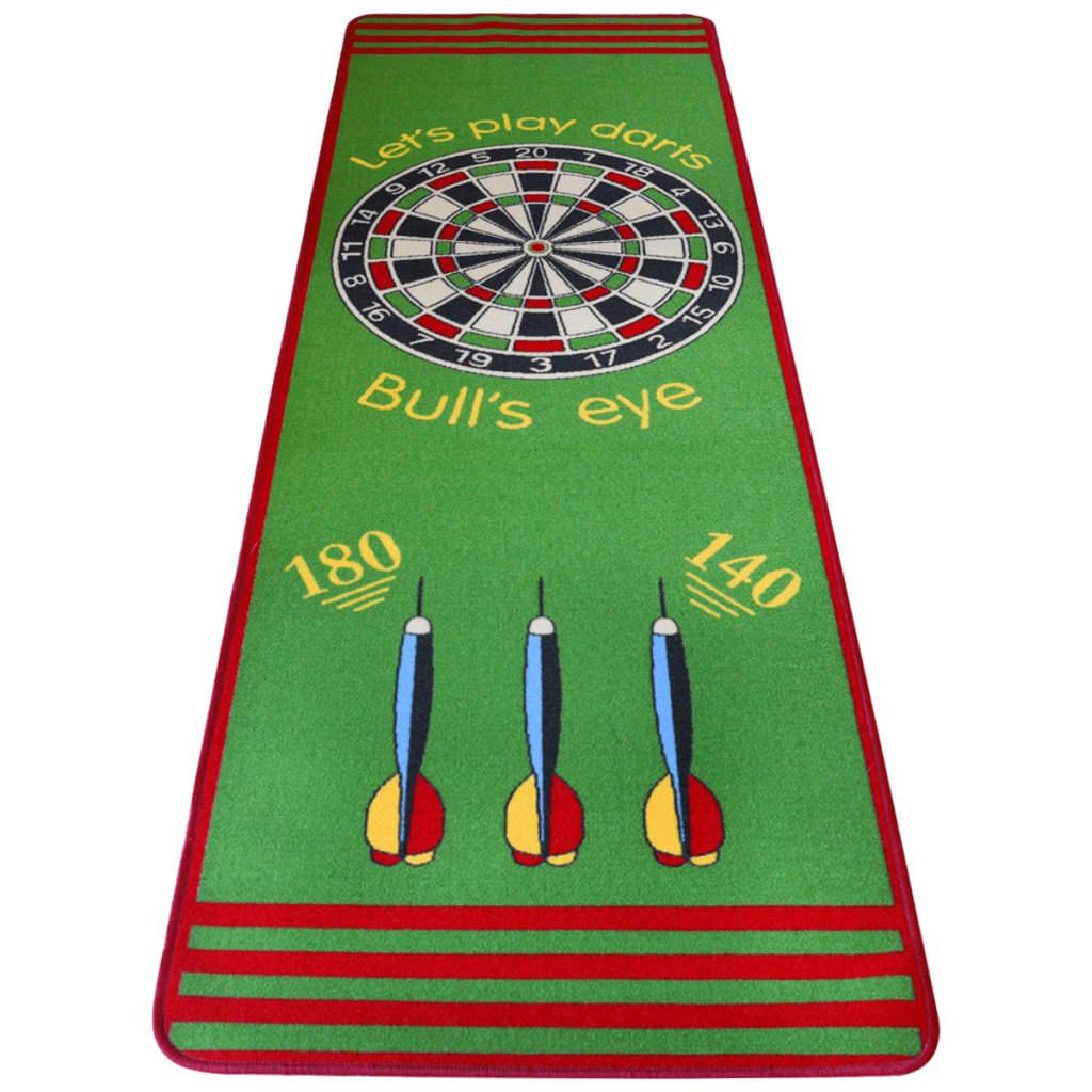 99131904 Dartteppich mit offiziellem Spielabstand 79x237 cm Grün und Rot