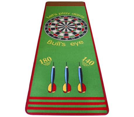 vidaXL Smiginio kilimėlis, 79x237 cm, žalia ir raudona[2/3]