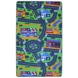 vidaXL Playing Rug 100x165 cm Road Pattern