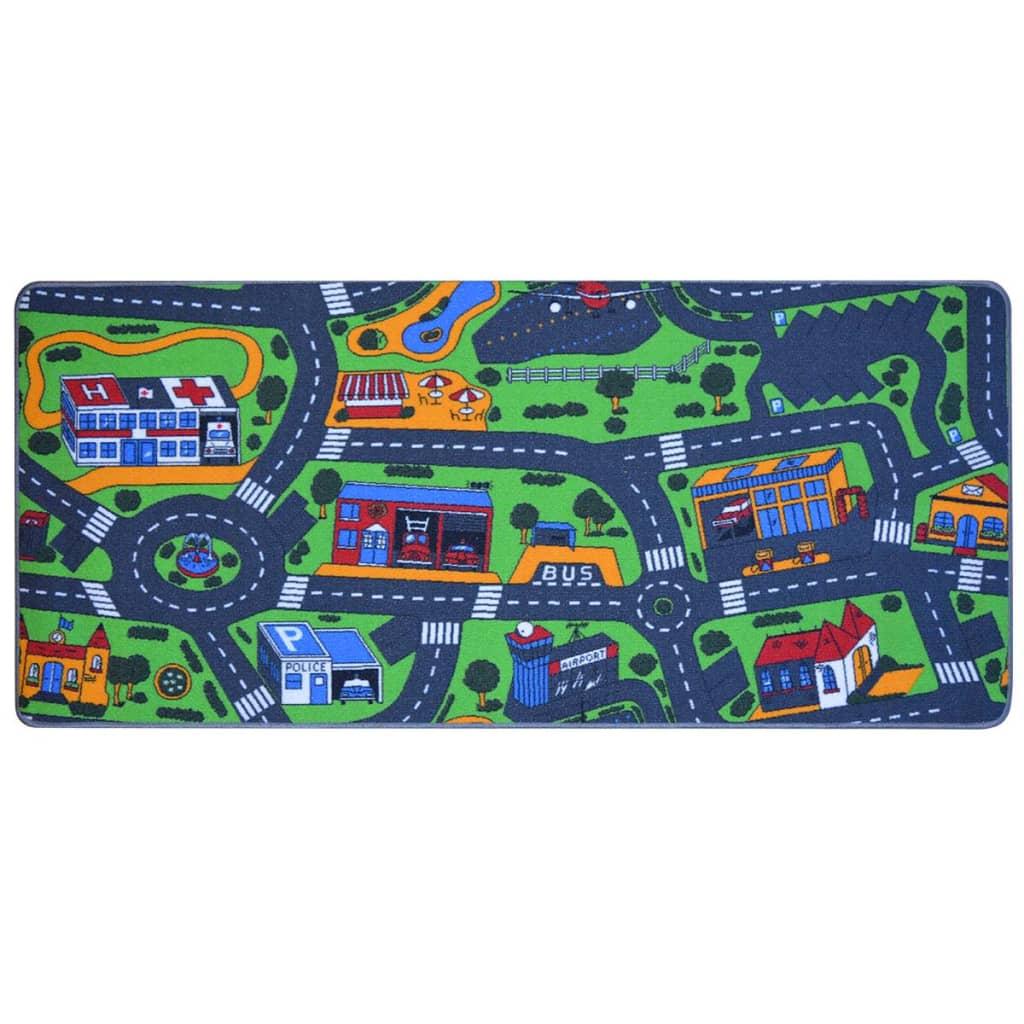 vidaXL Dětský koberec 95x200 cm vzor silnice