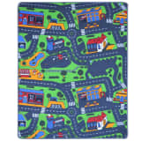 vidaXL Playing Rug 133x165 cm Road Pattern